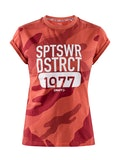 District clean tee W - Röd