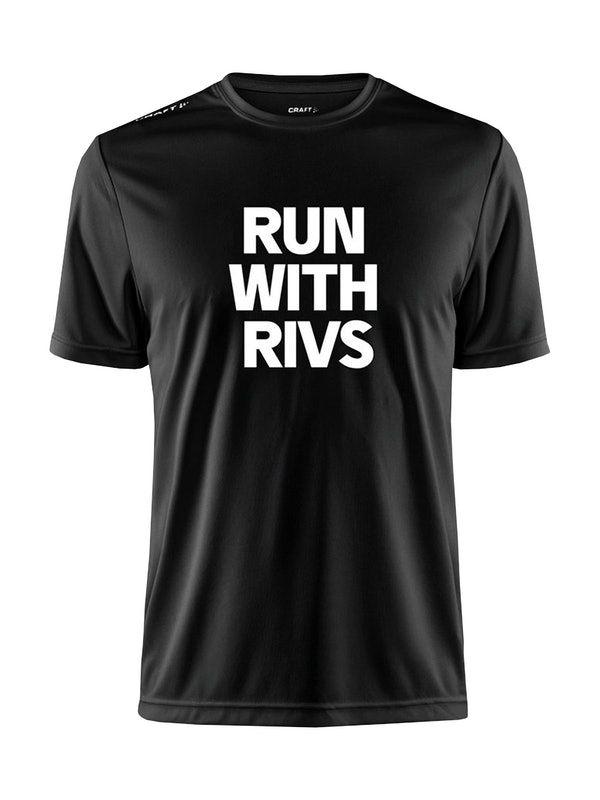 RUN WITH RIVS TEE M