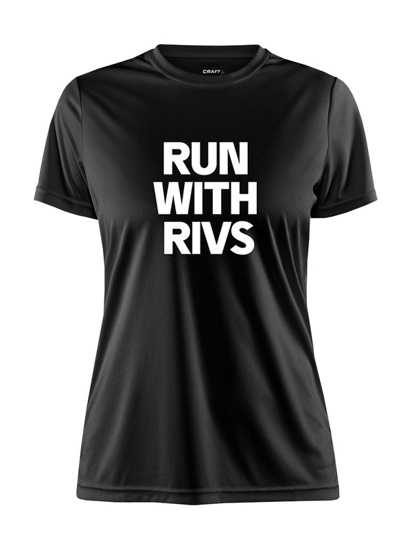 RUN WITH RIVS TEE W