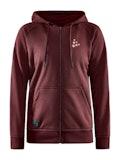 CORE Craft zip hood W - Red