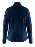 Noble Zip Jacket Heavy Knit fleece W - Marinblå