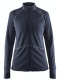 Full Zip Micro Fleece Jacket W - Navy blue