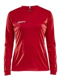 Squad Jersey Solid LS W - Red